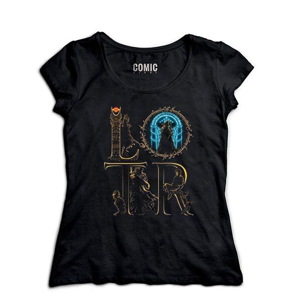 Camiseta Feminina The Lord of the Rings - Nerd e Geek - Presentes Criativos
