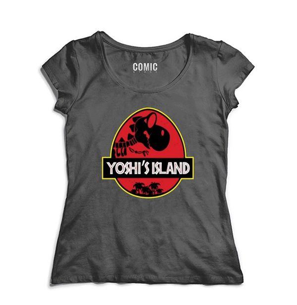 Camiseta Feminina  Yoshi Island - Nerd e Geek - Presentes Criativos
