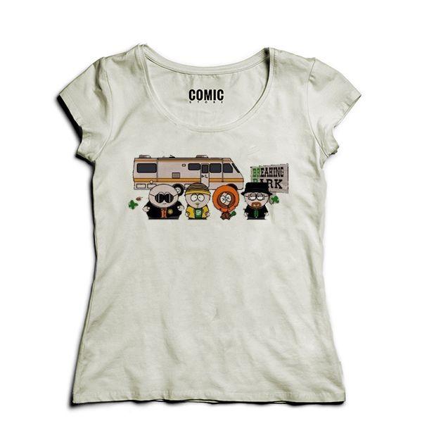 Camiseta Feminina  Breaking Park - Nerd e Geek - Presentes Criativos
