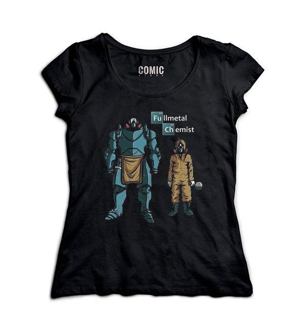 Camiseta Feminina Fullmetal alchemist - Nerd e Geek - Presentes Criativos