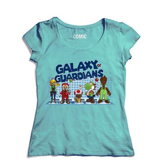 Camiseta Feminina Galaxy of Guardians- Nerd e Geek - Presentes Criativos