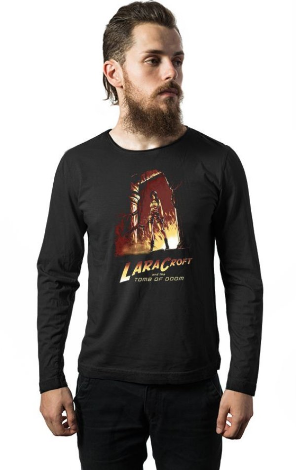 Camiseta Masculina Manga Longa Tomb Of Doom - Nerd e Geek - Presentes Criativos