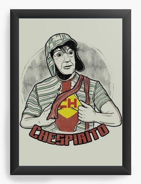 Quadro Decorativo A4 (33X24) Chaves Chespirito - Nerd e Geek - Presentes Criativos