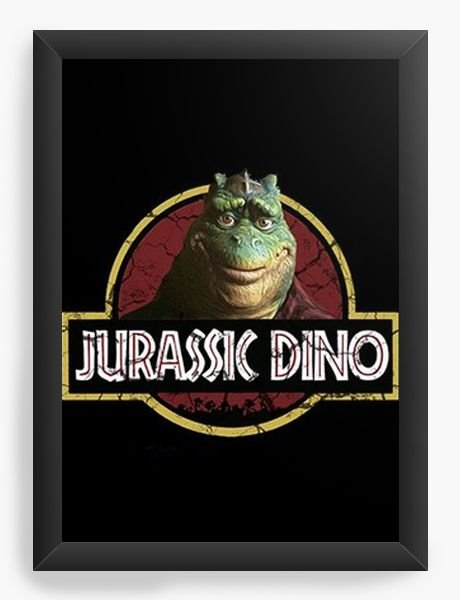 Quadro Decorativo A4 (33X24) Jurassic Dino - Nerd e Geek - Presentes Criativos