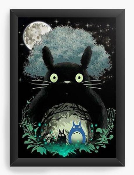 Quadro Decorativo A3 (45X33) My Neighbor Totoro - Nerd e Geek - Presentes Criativos