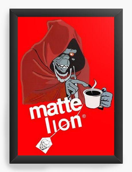 Quadro Decorativo A4 (33X24) Thundercats Matte Lion - Nerd e Geek - Presentes Criativos