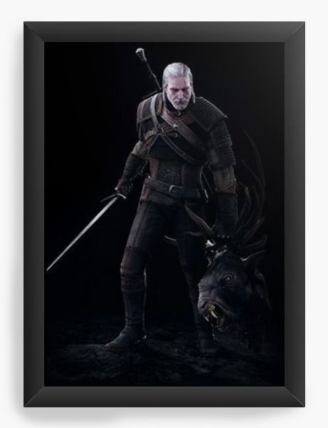 Quadro Decorativo A4 (33X24) The Witcher 3 - Nerd e Geek - Presentes Criativos