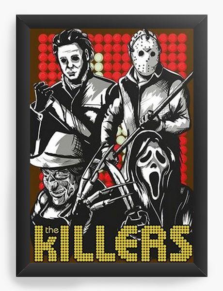 Quadro Decorativo A3 (45X33) Killers - Nerd e Geek - Presentes Criativos