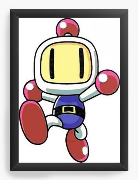 Quadro Decorativo A3 (45X33)  Bomberman - Nerd e Geek - Presentes Criativos