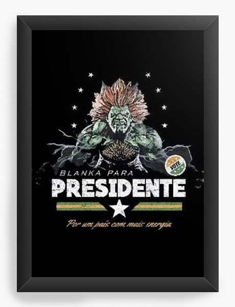 Quadro Decorativo A3 (45X33)  Blanka Presidente - Nerd e Geek - Presentes Criativos