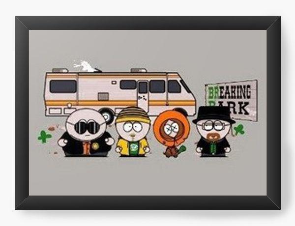 Quadro Decorativo A3 (45X33)  Breaking Park - Nerd e Geek - Presentes Criativos