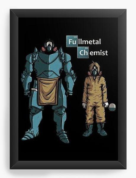 Quadro Decorativo A3 (45X33)  Fullmetal alchemist - Nerd e Geek - Presentes Criativos