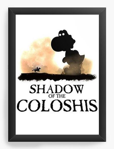 Quadro Decorativo A4 (33X24) Shadow of The Coloshis- Nerd e Geek - Presentes Criativos