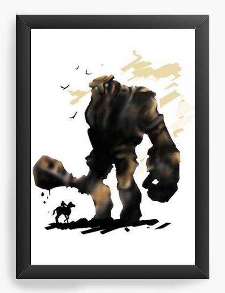 Quadro Decorativo A4 (33X24) Shadow of The Colossus- Nerd e Geek - Presentes Criativos