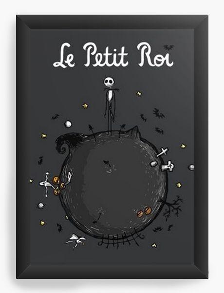 Quadro Decorativo A4 (33X24) Skelletion Le Petit Roi  - Nerd e Geek - Presentes Criativos