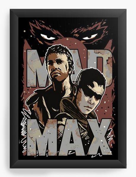 Quadro Decorativo A4 (33X24) Mad Max  - Nerd e Geek - Presentes Criativos