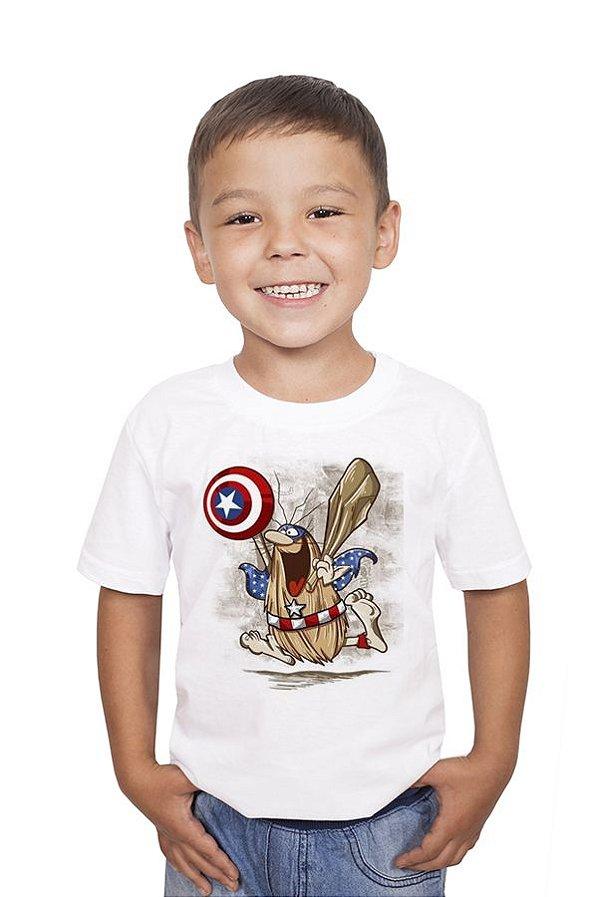 Camiseta Infantil Capitão Caverna Nerd e Geek - Presentes Criativos