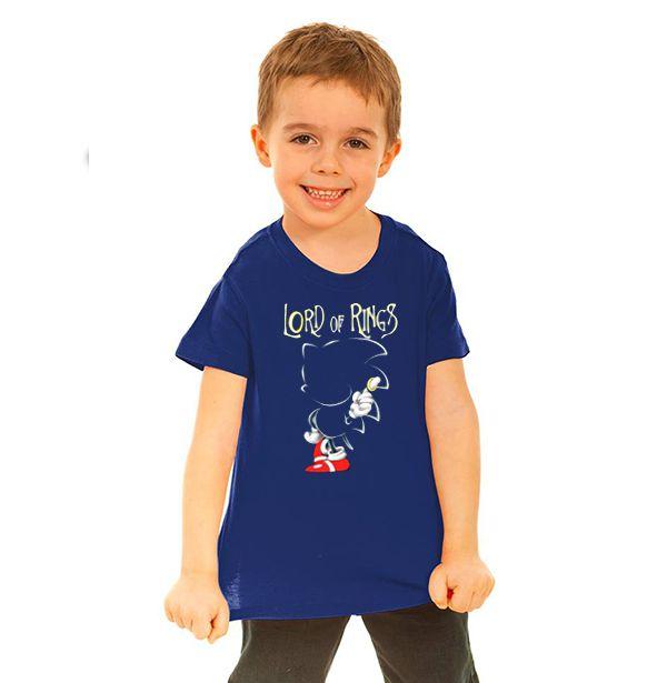 Camiseta Infantil Sonic Lord of Rings - Nerd e Geek - Presentes Criativos