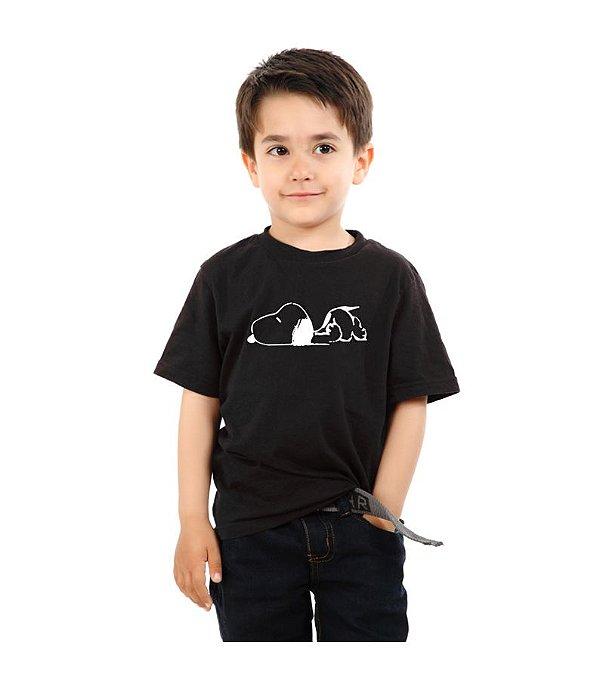 Camiseta Infantil Snoopy   - Nerd e Geek - Presentes Criativos