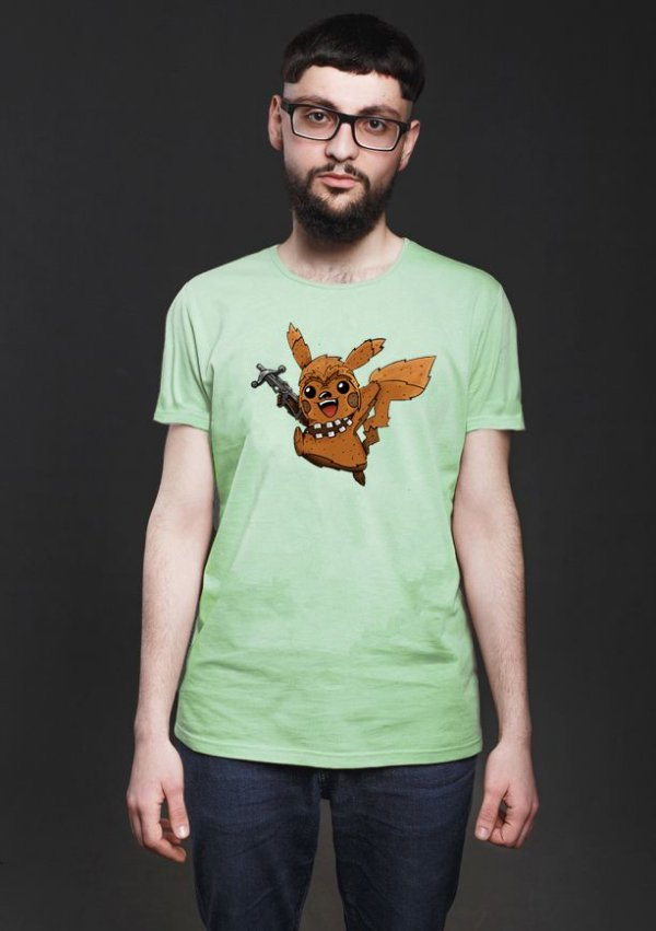 Camiseta Masculina  Pika Chewie - Nerd e Geek - Presentes Criativos