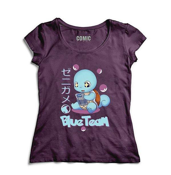 Camiseta Feminina Squirtle- Nerd e Geek - Presentes Criativos