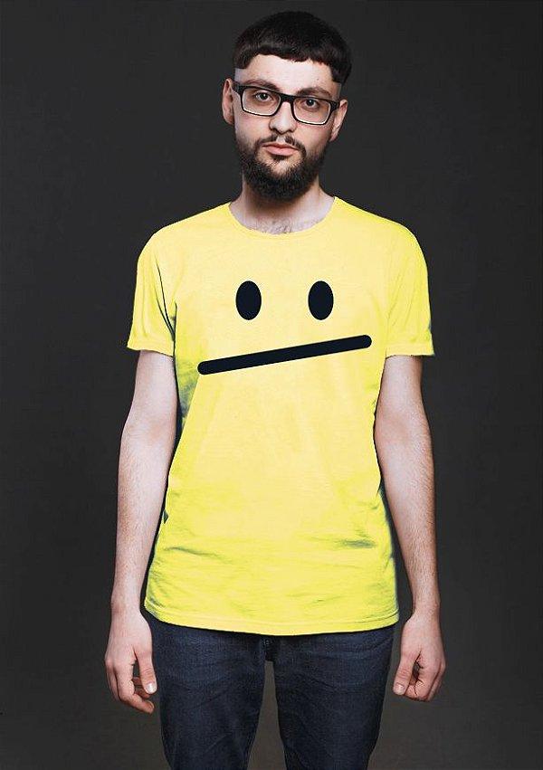 Camiseta Masculina  Smiley Face Nerd e Geek - Presentes Criativos