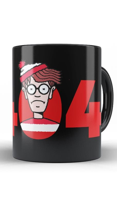 Caneca Error 404 Not Found Wally - Nerd e Geek - Presentes Criativos
