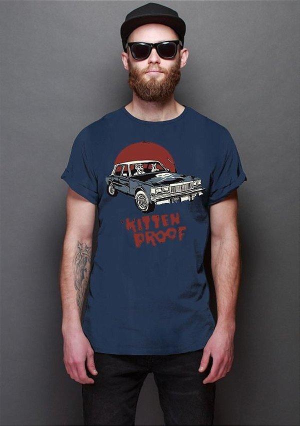 Camiseta Masculina  KITTEN PROOF - Nerd e Geek - Presentes Criativos