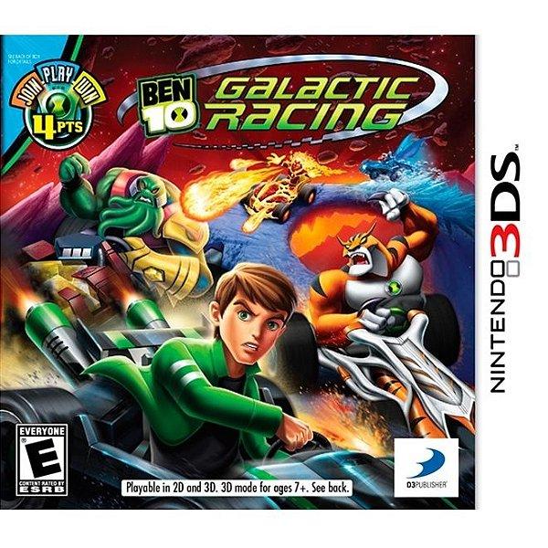 Ben 10 Galactic Racing - 3Ds - Nerd e Geek - Presentes Criativos