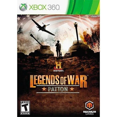 History Legends Of War Patton - Xbox 360 - Nerd e Geek - Presentes Criativos