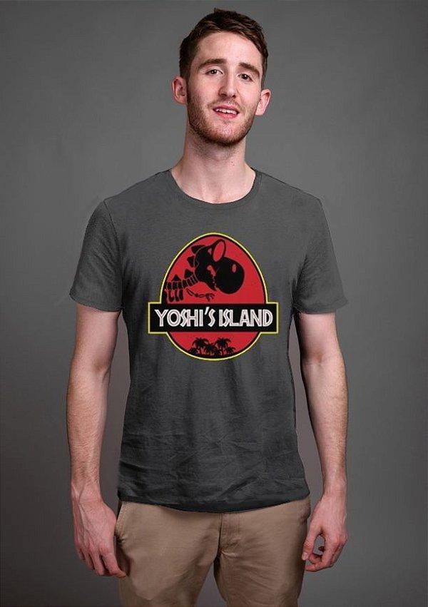 Camiseta Masculina  Yoshi Island - Nerd e Geek - Presentes Criativos