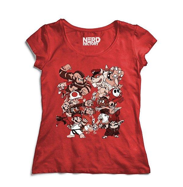 Camiseta Super Mario Vs Street Fighter