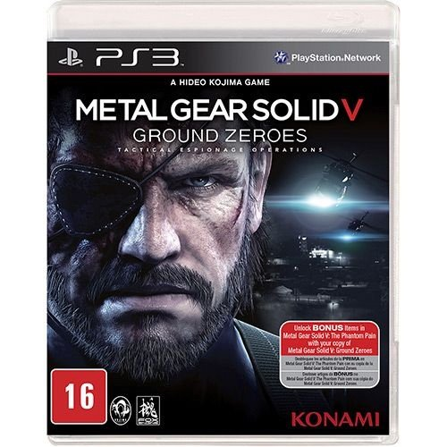Metal Gear Solid V: Ground Zeroes - Ps3 - Nerd e Geek - Presentes Criativos