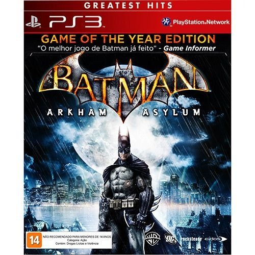 Batman - Arkham Asylum - Ps3 - Nerd e Geek - Presentes Criativos