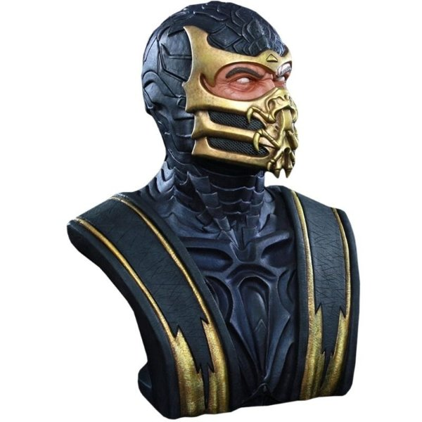 Scorpion Life-Size Bust Mortal Kombat Pop Culture Shock 1/1 - Nerd e Geek - Presentes Criativos