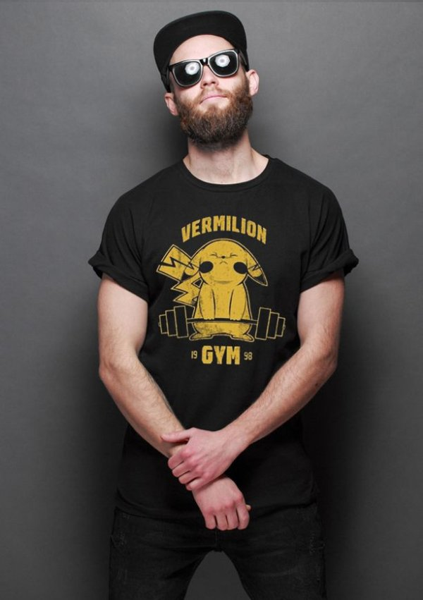 Camiseta Masculina  Pokemon Vermilion Gym - Nerd e Geek - Presentes Criativos