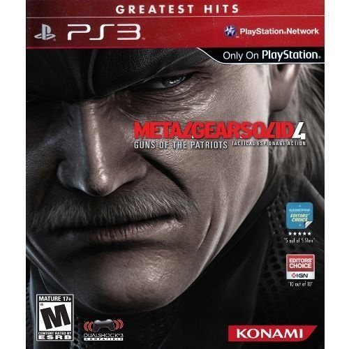 Ps3 - Metal Gear Solid 4: Guns Of The Patriots - Nerd e Geek - Presentes Criativos