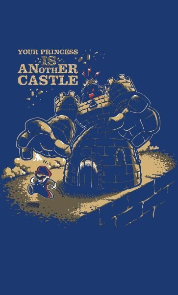Camiseta  Your Princess Is Another Castle