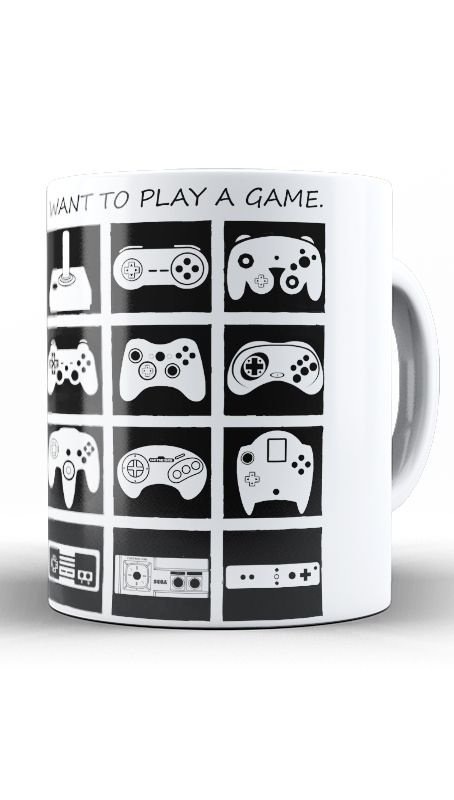 Caneca Play Game  - Nerd e Geek - Presentes Criativos