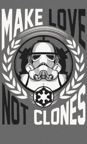 Camiseta Star Wars Make Love Not Clones