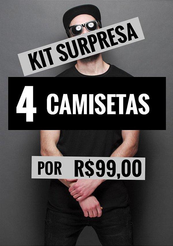 Kit 4 Camisetas Surpresa  - LOJA NERD E GEEK - PRESENTES CRIATIVOS