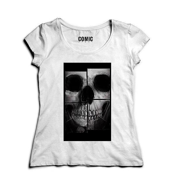 Camiseta Feminina Skull - Nerd e Geek - Presentes Criativos