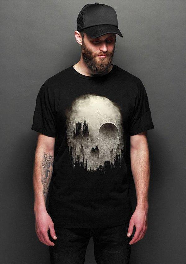 Camiseta Skull City - Nerd e Geek - Presentes Criativos