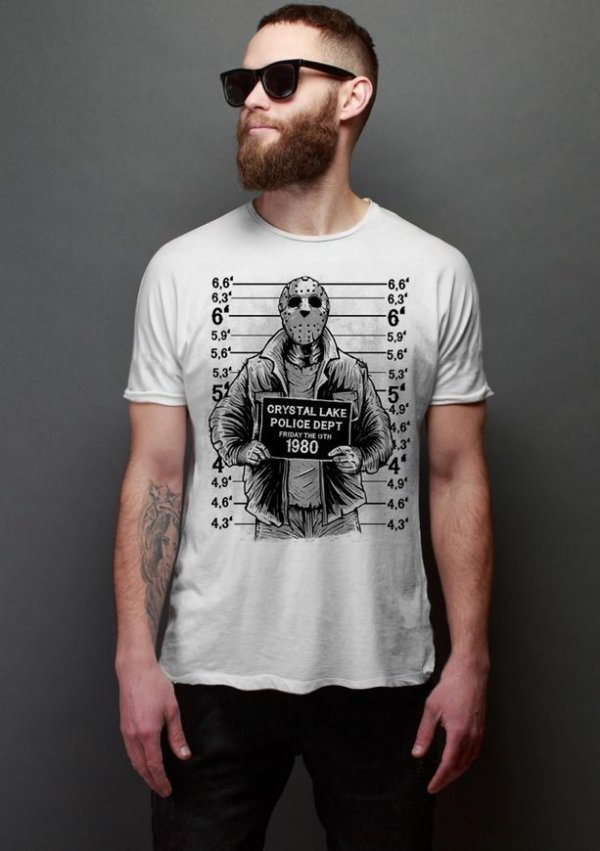 Camiseta Masculina  Jason Police Dept 1980 - Nerd e Geek - Presentes Criativos