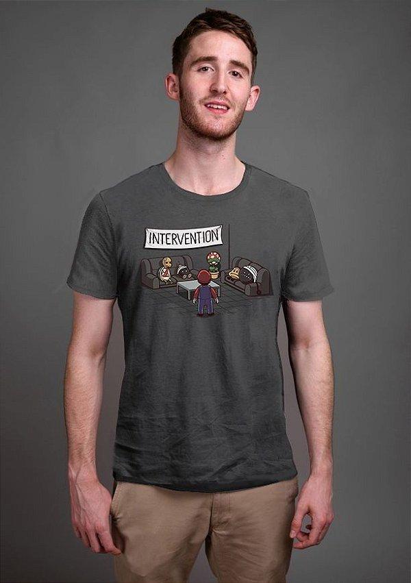 Camiseta Masculina  Intervention - Nerd e Geek - Presentes Criativos