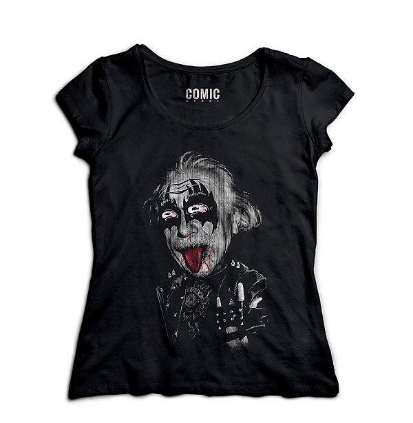 Camiseta Albert Einstein rockstar - Nerd e Geek - Presentes Criativos