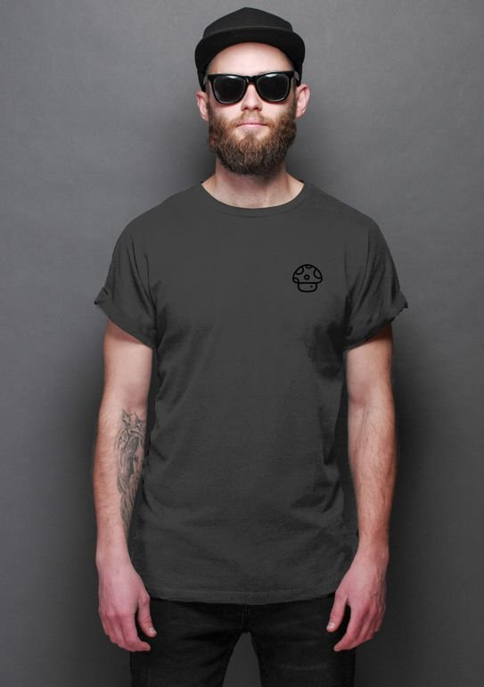 Camiseta Masculina Cogumelo- Nerd e Geek - Presentes Criativos
