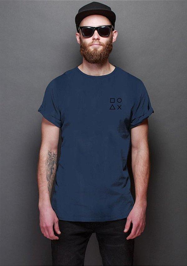 Camiseta Masculina Controle PS Nerd e Geek - Presentes Criativos