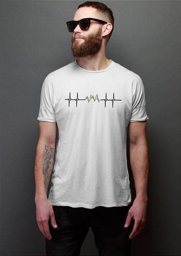 Camiseta Masculina Bolsa de valores Day trade Nerd e Geek - Presentes Criativos
