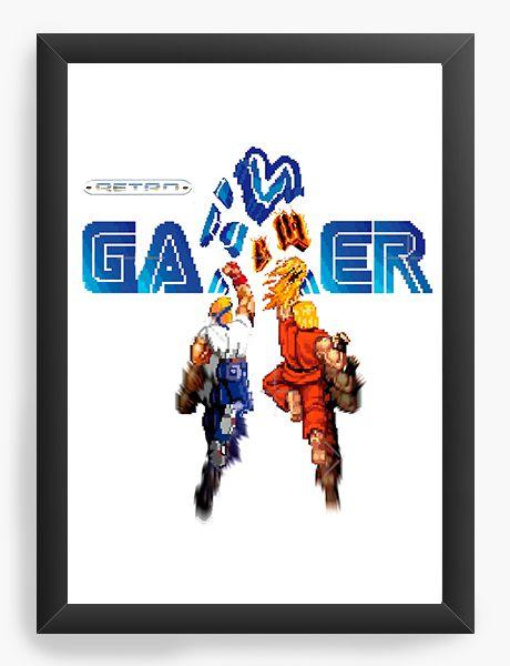 Quadro Decorativo A3 (45X33) Gamer Retrô- Nerd e Geek - Presentes Criativos